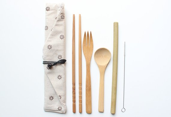 Bamboo Utensil Set shop now!
