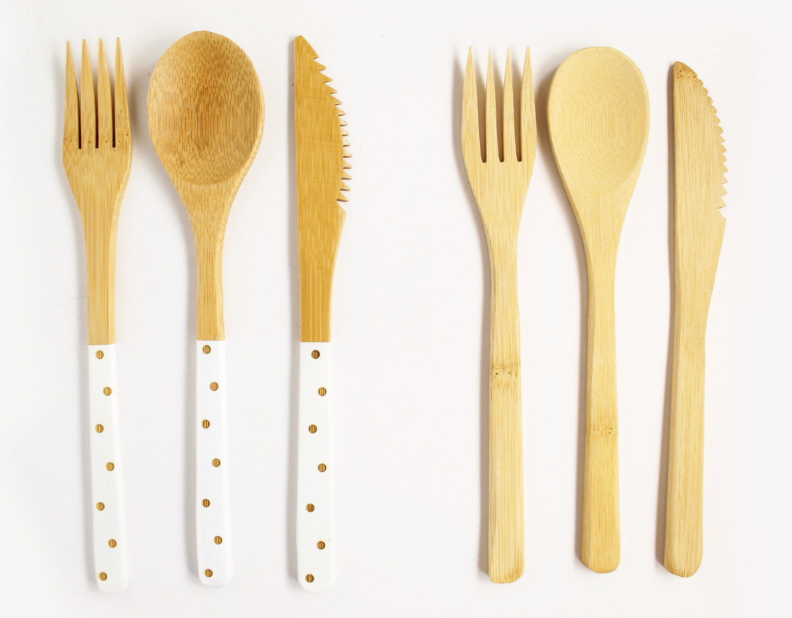 Polka Dot Bamboo Utensils