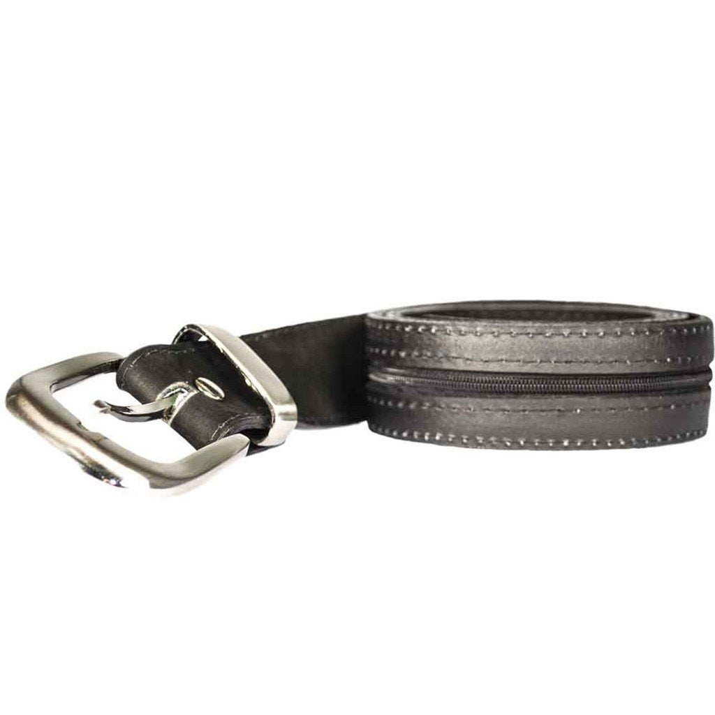 Leather Money Belt with Hidden Pocket
