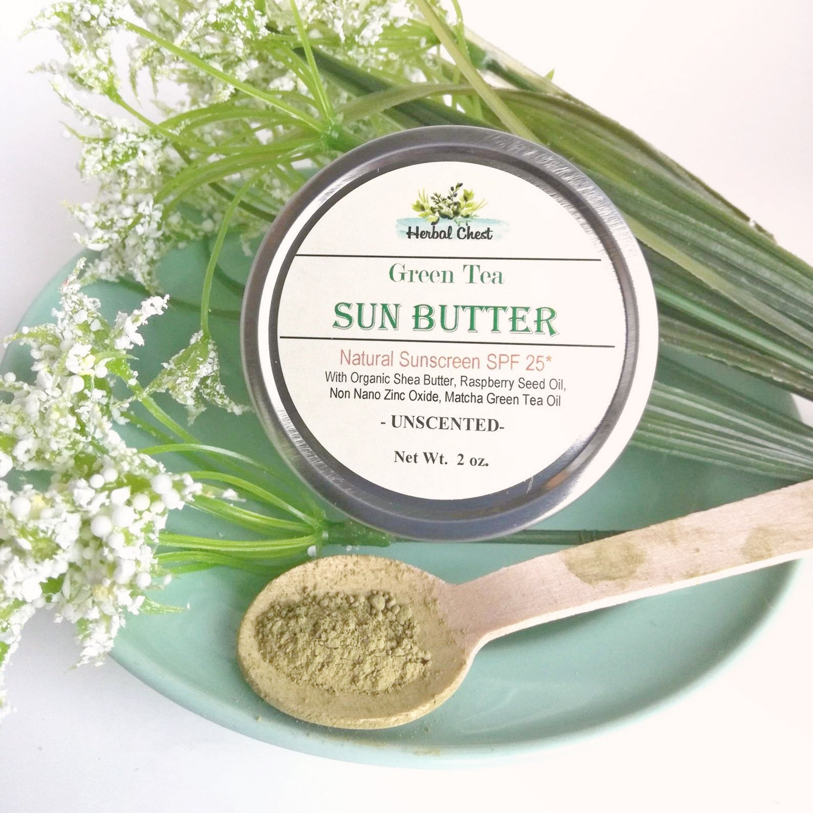Natural Green Tea Sun Butter - SPF 25 Green Tea Sun Butter Natural Sunscreen