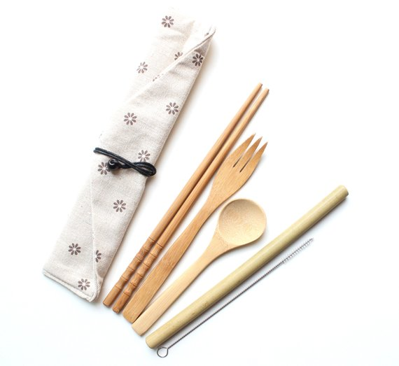 Bamboo Utensil To-Go Set