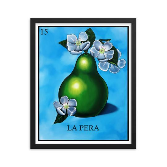 La Pera Loteria framed print by Pilar Grother