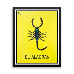 El Alacran Loteria in Day of the Dead design by Pilar Grother