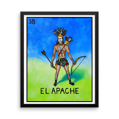 El Apache Loteria in day of the dead design by Pilar Grother