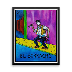 El Borracho Loteria in day of the dead design by Pilar Grother