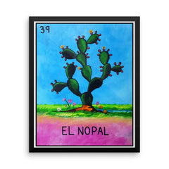 El Nopal Loteria in day of the dead design by Pilar Grother