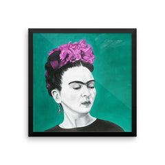 Frida - Sola. Frida Kahlo painting design is available in t-sirts, mugs, hoodies, totes, prints, socks, and cell phone cases.