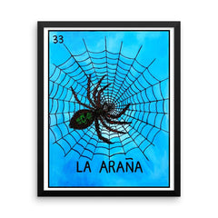 La Araña Loteria in day of the dead design by Pilar Grother