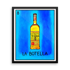 La Botella Loteria in day of the dead design by Pilar Grother