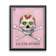 La Calavera Loteria in day of the dead design by Pilar Grother