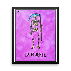 La Muerte Loteria in day of the dead design by Pilar Grother