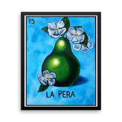La Pera Loteria in day of the dead design by Pilar Grother