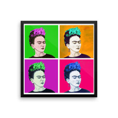 Las Fridas. Frida Kahlo in a pop inspired design is available in t-sirts, mugs, hoodies, totes, prints, socks, and cell phone cases.