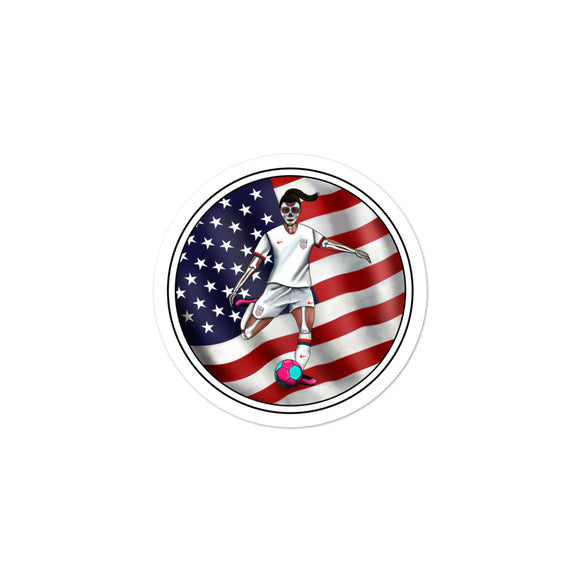 La Futbolista Loteria USA Women's Soccer Sticker by Pilar Grother