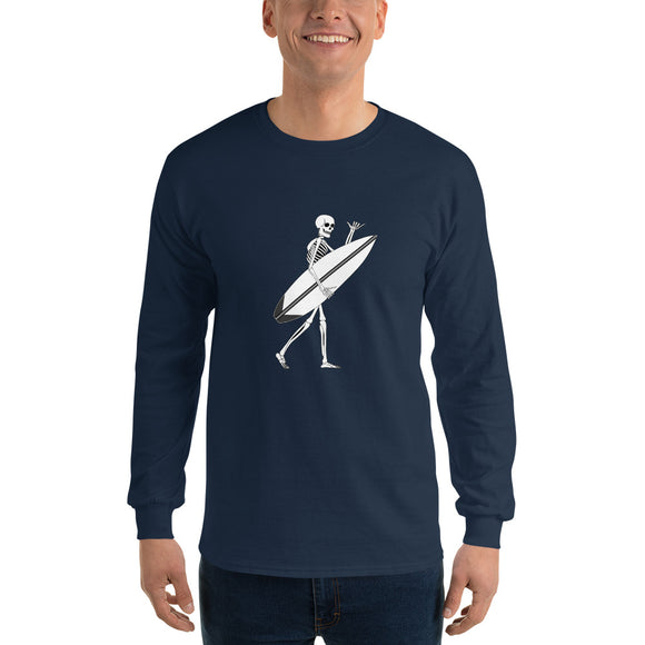 El Surfista Skeleton Shaka Men's Long Sleeve T-Shirt