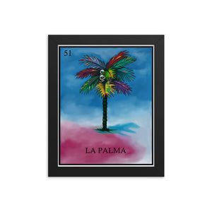 La Palma Loteria Framed photo paper poster