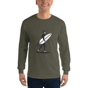 El Surfista B&W Plain Men's Long Sleeve T-Shirt