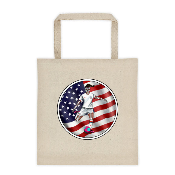 La Futbolista USA Women's Soccer Tote Bag by Pilar Grother
