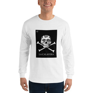 La Calavera Loteria B&W Mens Long Sleeve T-Shirt