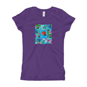 Las Damas Rosa Loteria All-Over Girl's T-Shirt