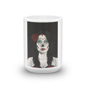 Catrina Dia de los Muertos (Day of the Dead) mug by Pilar Grother