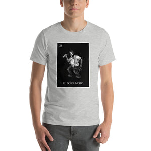 El Borracho Loteria Men's B&W T-Shirt