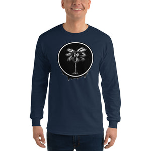 Palma Drip B&W Men's Long Sleeve T-Shirt