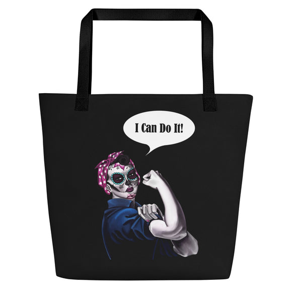 Rosie the Riveter Beach Bag