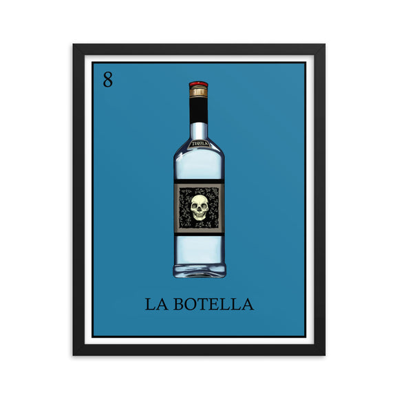 La Botella Loteria Framed photo paper poster
