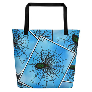 La Araña Loteria All-Over Beach Bag