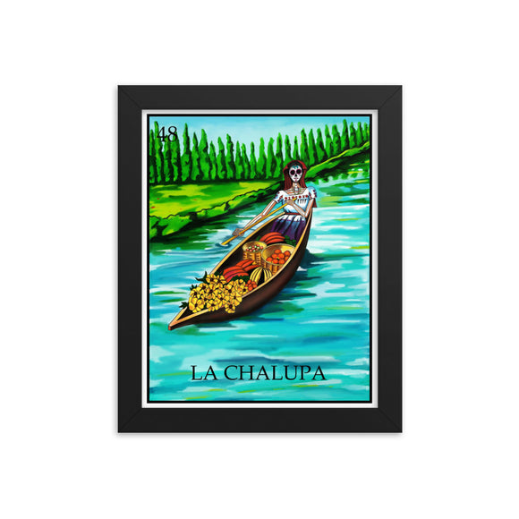 La Chalupa Loteria Framed photo paper poster