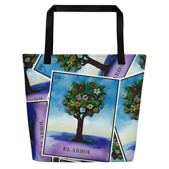 El Arbol Loteria All-Over Beach Bag