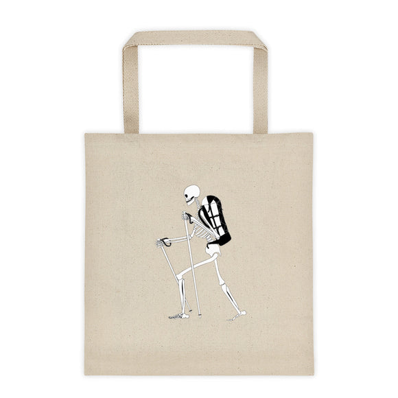 El Senderista (Hiker) Skeleton Tote bag 12oz