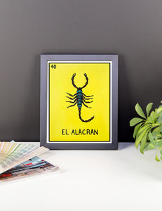 El Alacran Loteria Framed photo paper poster