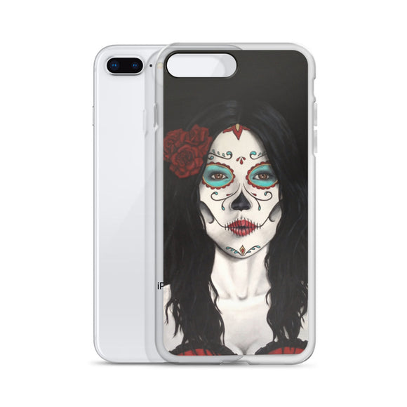 Catrina Dia de los Muertos (Day of the Dead) iphone case by Pilar Grother