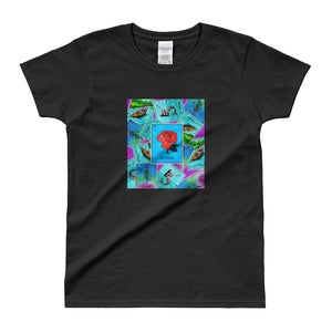 Las Damas Rosa Loteria All-Over Women's T-shirt