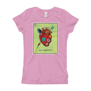 El Corazon Loteria Girls T-Shirt
