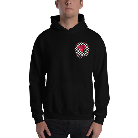 Rosa Drip Checker Board Small Logo Hoodie