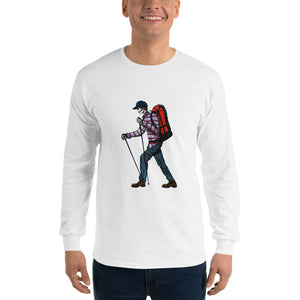 El Senderista (Hiker) Men's Long Sleeve T-Shirt