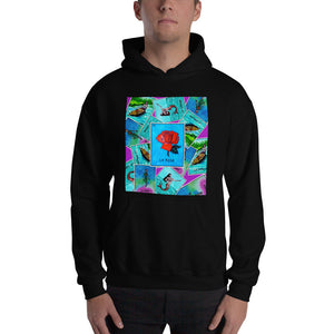 Las Damas Rosa Loteria All-Over Hoodie