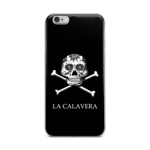 La Calavera Loteria B&W iPhone Case