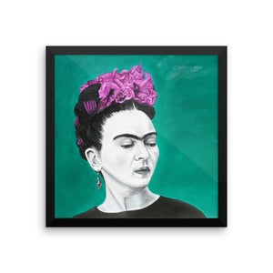Frida Sola Framed photo paper poster