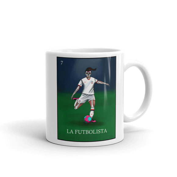 La Futbolista USA Women's Soccer Mug by Pilar Grother