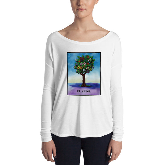 El Arbol Loteria Womens Long Sleeve Tee