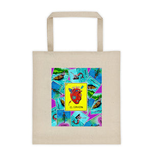 Las Damas Corazon Loteria All-Over Tote bag 12oz