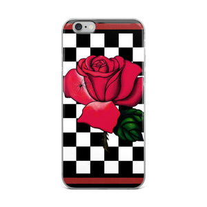 Rosa Checker Board iPhone Case