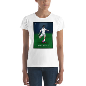 La Futbolista USA Women's Soccer T-shirt by Pilar Grother