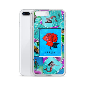 Las Damas Rosa Loteria All-Over iPhone Case
