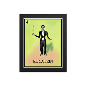 El Catrin Loteria Framed photo paper poster