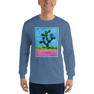 El Nopal Loteria Mens Long Sleeve T-Shirt